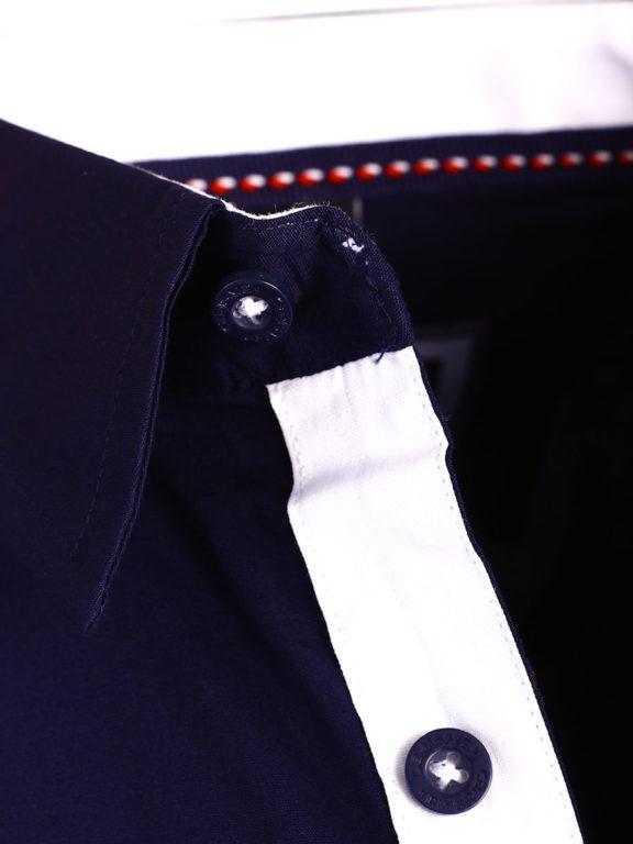 Carisma overhemd effen korte mouw met stretch blauw 9102 (4)