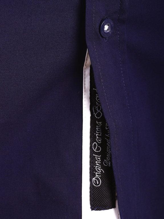 Carisma overhemd effen korte mouw met stretch blauw 9102 (5)