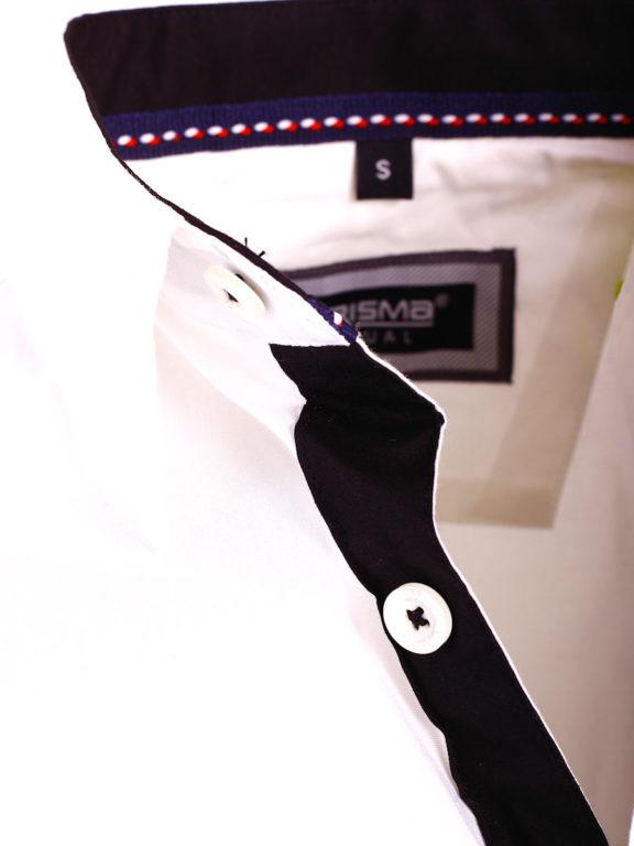 Carisma overhemd effen korte mouw met stretch wit 9102 (4)