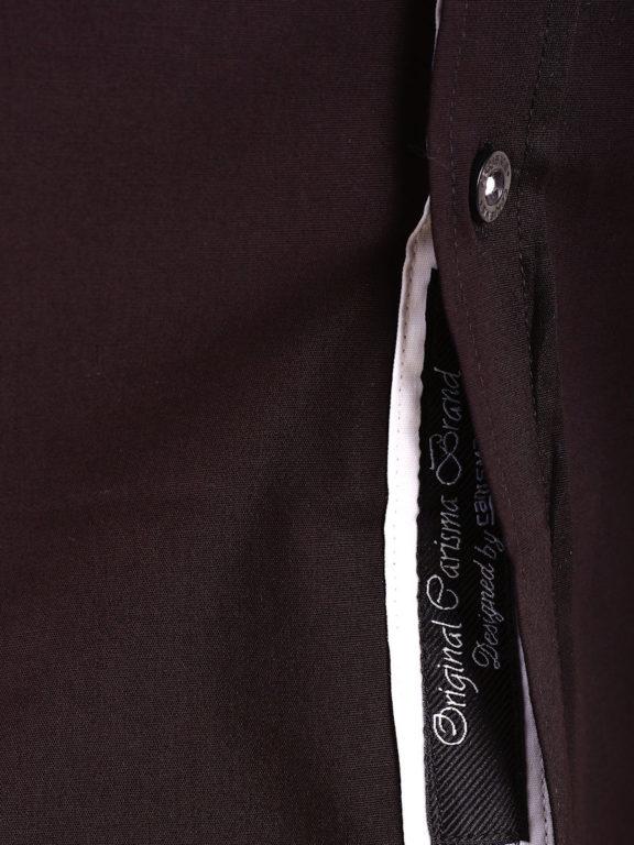 Carisma overhemd effen korte mouw met stretch zwart 9102 (4)