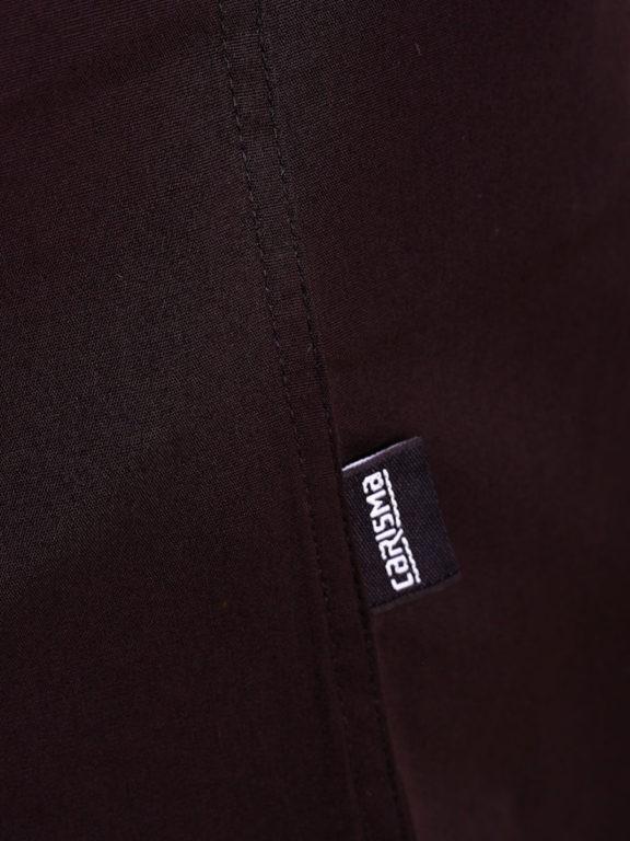 Carisma overhemd effen korte mouw met stretch zwart 9102 (5)