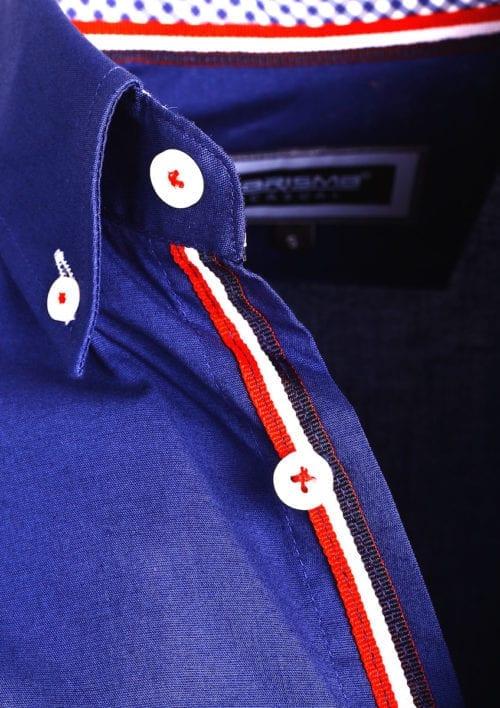Carisma overhemd heren lange mouw effen blauw 8466 (2)