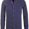 Carisma overhemd lange mouw gewerkt motief blauw 8486 (1)