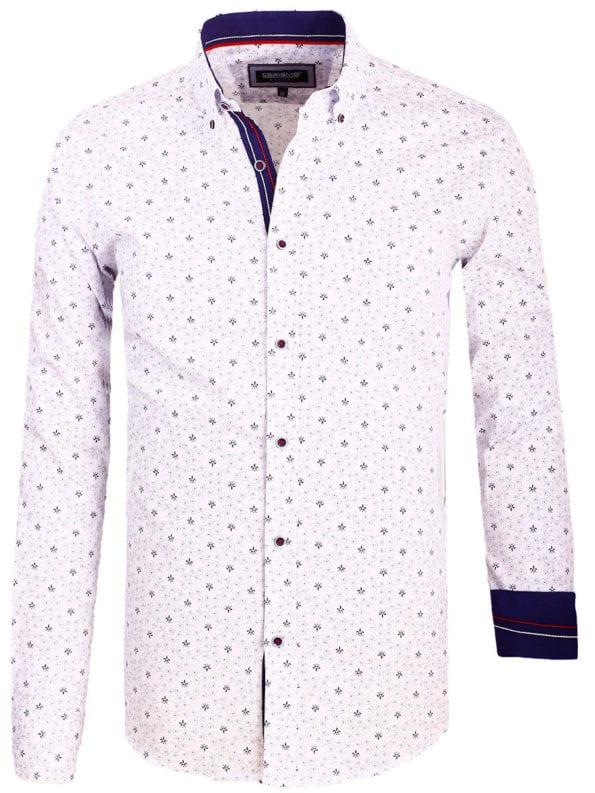 Carisma overhemd lange mouw gewerkt motief wit 8486 (2)