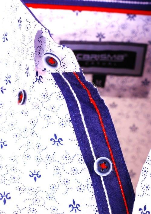 Carisma overhemd lange mouw gewerkt motief wit 8486 (3)
