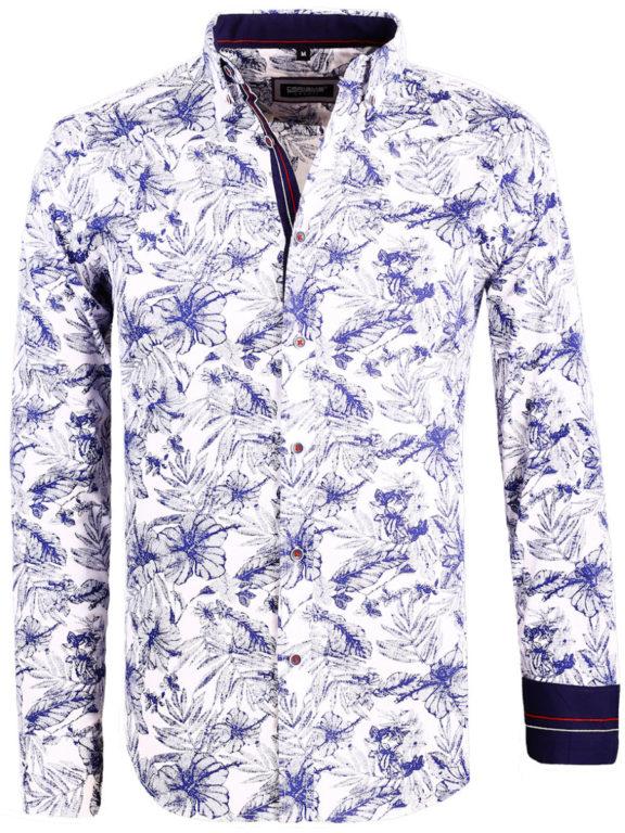Carisma overhemd met bloemen lange mouw wit shirt met bloemenprint 8423 (2)