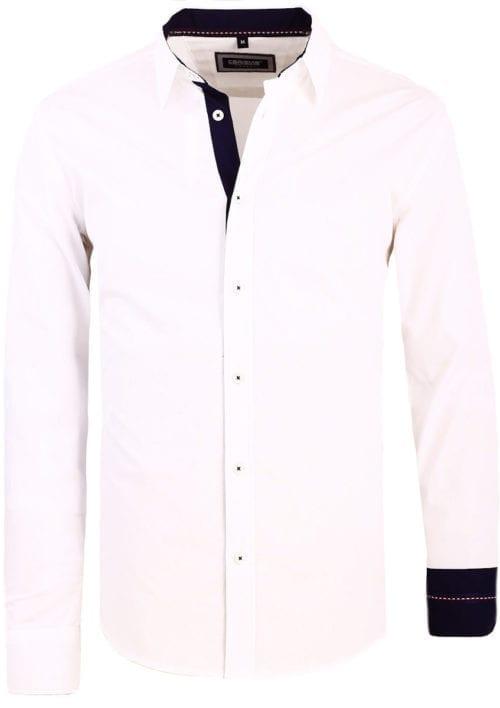 Carisma wit overhemd lange mouw klassieke boord met stretch 8441 (2)