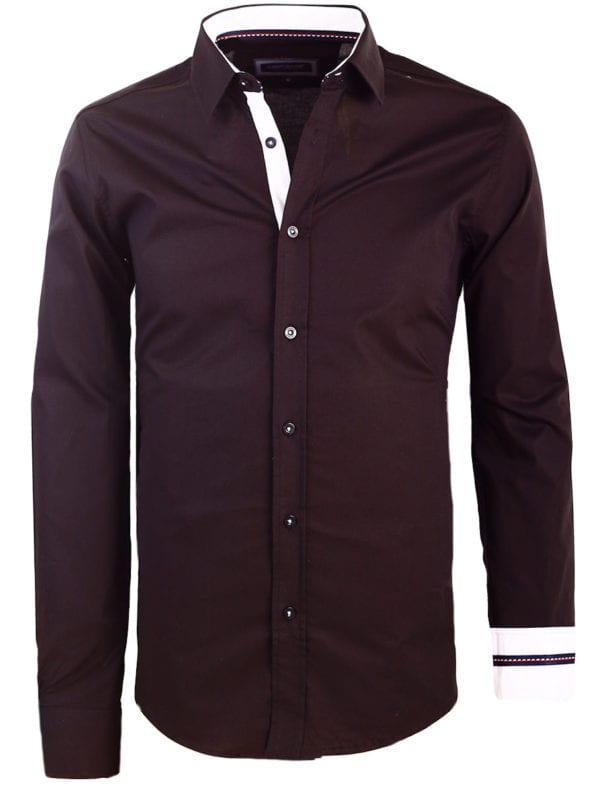 Carisma zwart overhemd lange mouw klassieke boord met stretch 8441 (1)