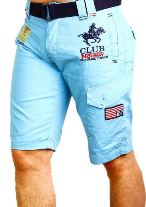 Geographical Norway Korte broek Turquoise Royal Club Papillon (1)