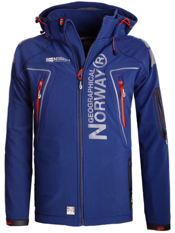 Geographical Norway Softshell jas heren Blauw Techno men Softshell jacks (2)