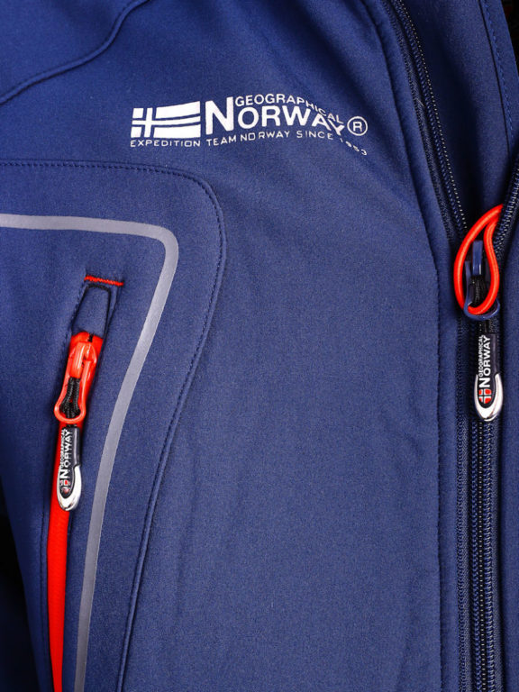 Geographical Norway Softshell jas heren Blauw Techno men Softshell jacks (3)