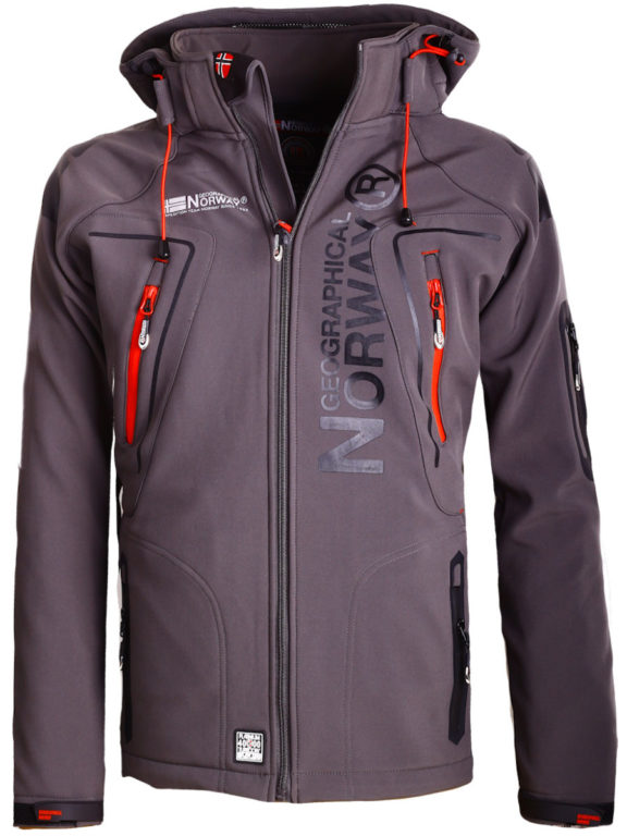 Geographical Norway Softshell jas heren Grijs Techno men Softshell jacks (2)
