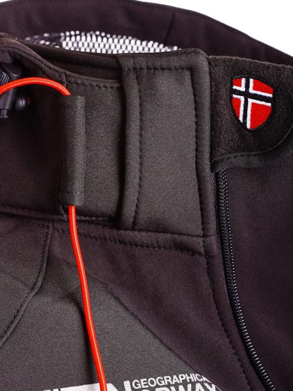Geographical Norway Softshell jas zwart heren Techno softshell jackets Bendelli (5)