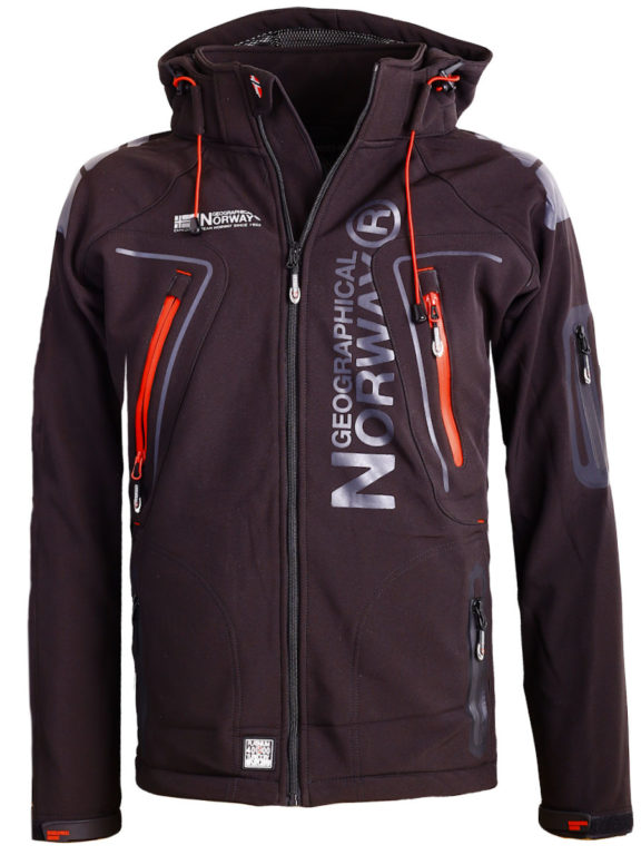 Geographical Norway Softshell jas zwart heren Techno softshell jackets Bendelli (9)