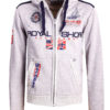 Geographical Norway Vest met capuchon Grijs Heren Sweaters Gamacho (1)