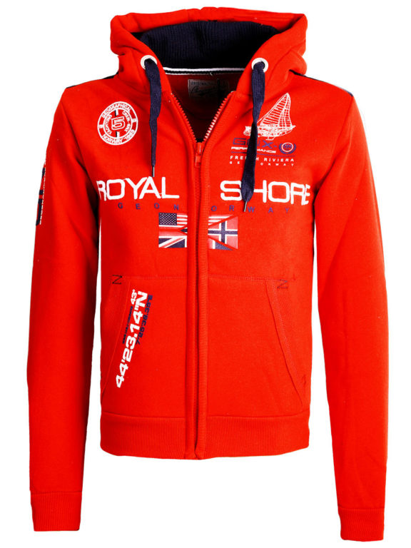 Geographical Norway Vest met capuchon Rood Heren Sweaters Gamacho (2)