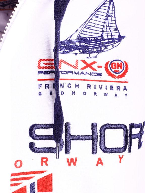 Geographical Norway Vest met capuchon Wit Heren Sweaters Gamacho (4)