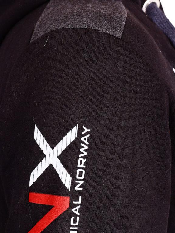 Geographical Norway Vest met capuchon Zwart Heren Sweaters Gamacho (1)