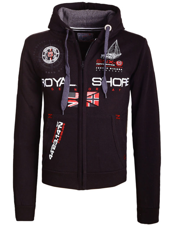 Geographical Norway Vest met capuchon Zwart Heren Sweaters Gamacho (3)