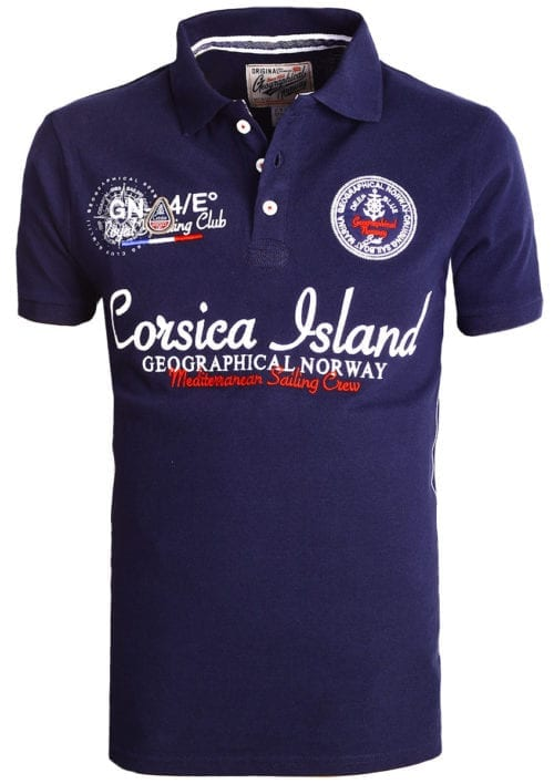 Geographical Norway polo shirt heren blauw Corsica Island Kulampo (1)
