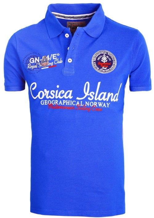 Geographical Norway polo shirt heren kobalt Corsica Island Kulampo (2)