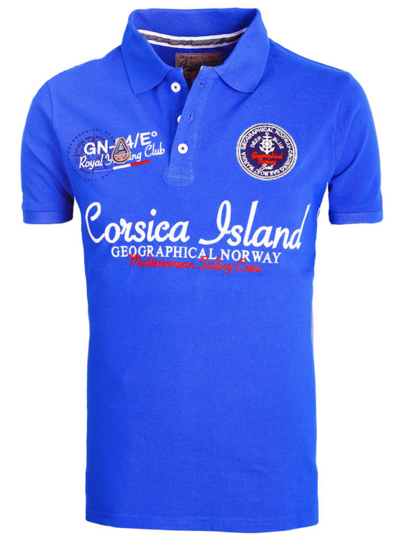 Geographical Norway polo shirt heren kobalt Corsica Island Kulampo (2)