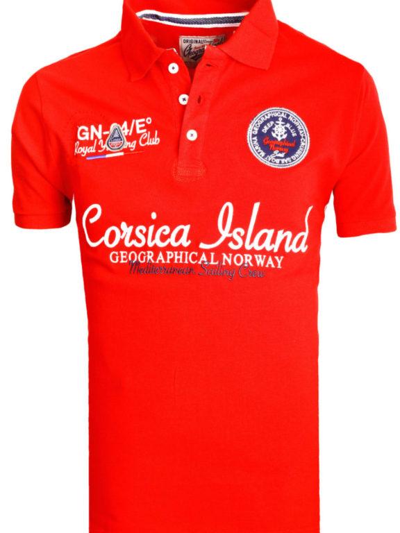 Geographical Norway polo shirt heren rood Corsica Island Kulampo (2)
