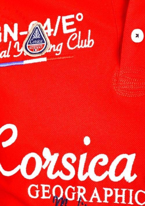 Geographical Norway polo shirt heren rood Corsica Island Kulampo (3)