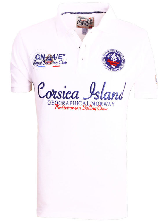 Geographical Norway polo shirt heren wit Corsica Island Kulampo (2)