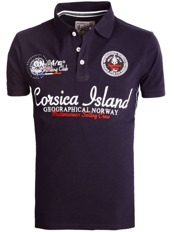 Geographical Norway polo shirt heren zwart Corsica Island Kulampo (2)