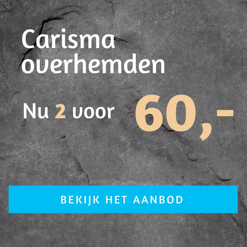Carisma overhemden 2 voor 60 euro
