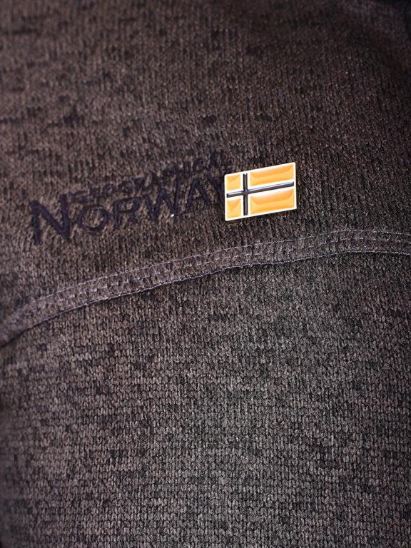 Geographical Norway Vest Bruin Urval opstaande kraag met Windstopper Bendelli (3)
