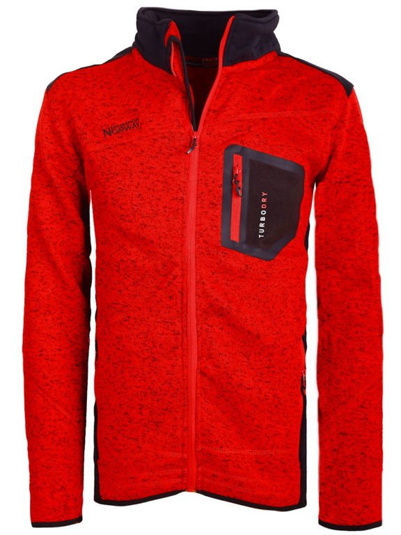 Geographical Norway Vest Rood Urval opstaande kraag met Windstopper Bendelli (2)