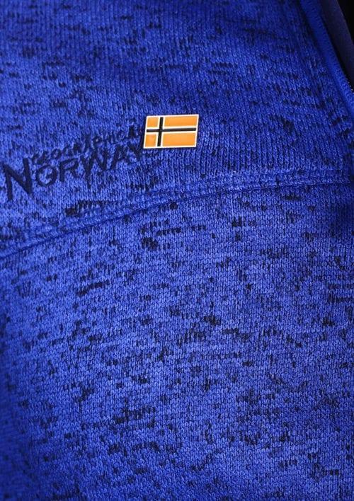Geographical Norway Vest licht blauw Urval opstaande kraag met Windstopper Bendelli (3)