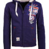 Geographical Norway vest met capuchon blauw expedition Gotham (2)