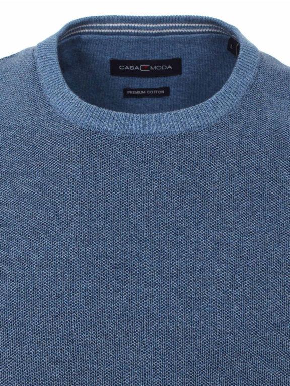 CasaModa Trui met ronde hals blauw premium katoen 403469600-127 (1)
