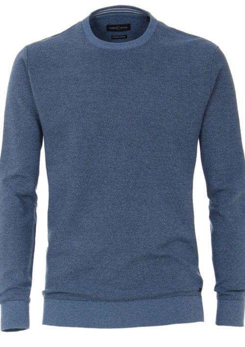 CasaModa Trui met ronde hals blauw premium katoen 403469600-127 (2)