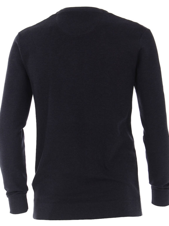Casamoda Trui met ronde hals zwart premium katoen 403469600-135 (3)