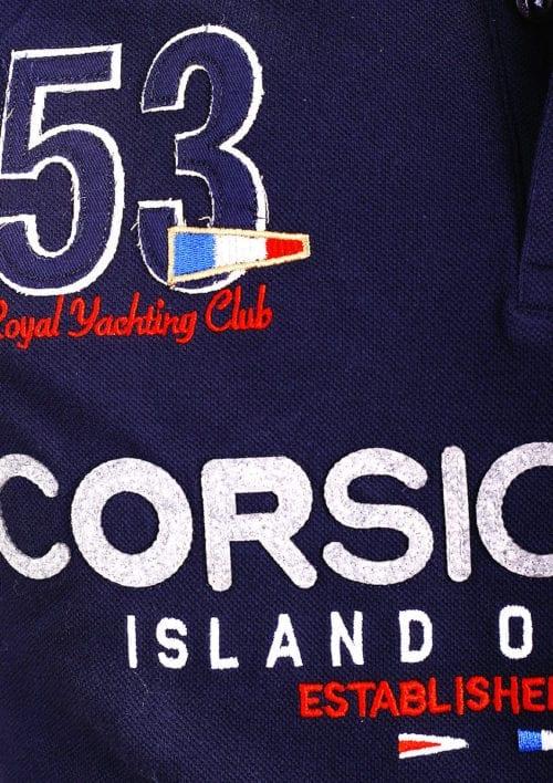 Geographical Norway Polo Shirt Blauw Corsica Island Sail Poloshirts Kibutz (3)