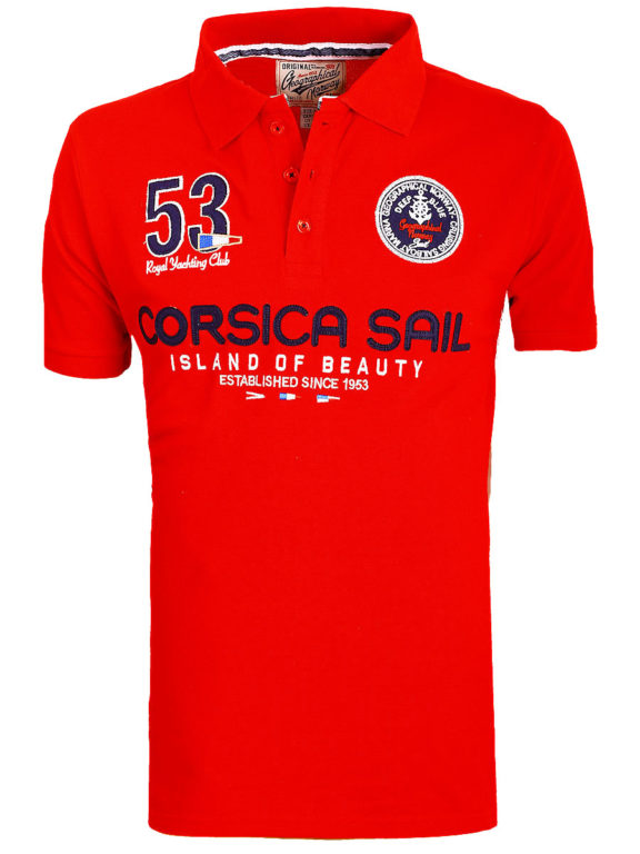 Geographical Norway Polo Shirt Blauw Corsica Island Sail Poloshirts Kibutz (7)