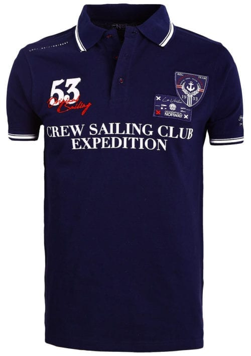 Geographical Norway Polo Shirt Blauw Sailing Club Shirts Kebastien (2)