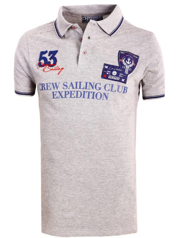 Geographical Norway Polo Shirt Grijs Sailing Club Shirts Kebastien (3)