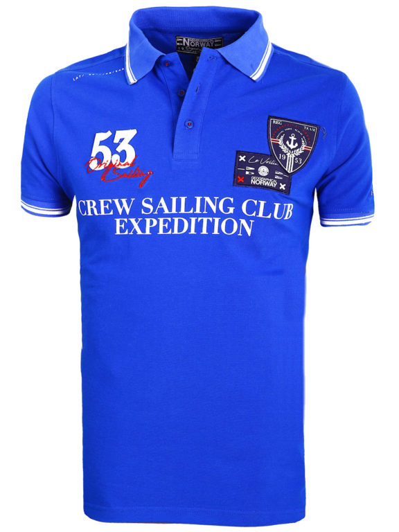 Geographical Norway Polo Shirt Kobalt blauw Sailing Club Shirts Kebastien (2)