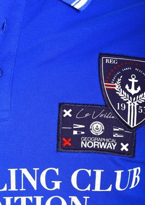 Geographical Norway Polo Shirt Kobalt blauw Sailing Club Shirts Kebastien (4)