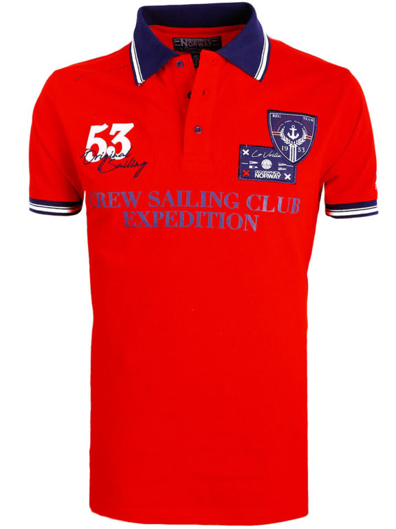 Geographical Norway Polo Shirt Rood Sailing Club Shirts Kebastien (2)
