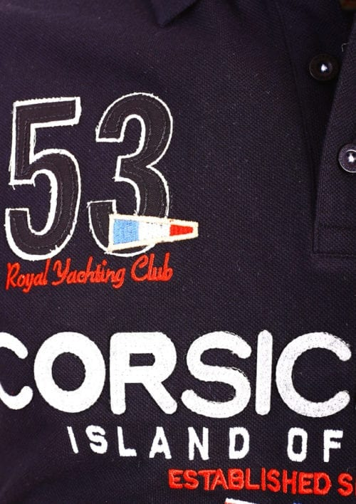 Geographical Norway Polo Shirt Zwart Corsica Island Sail Poloshirts Kibutz (2)
