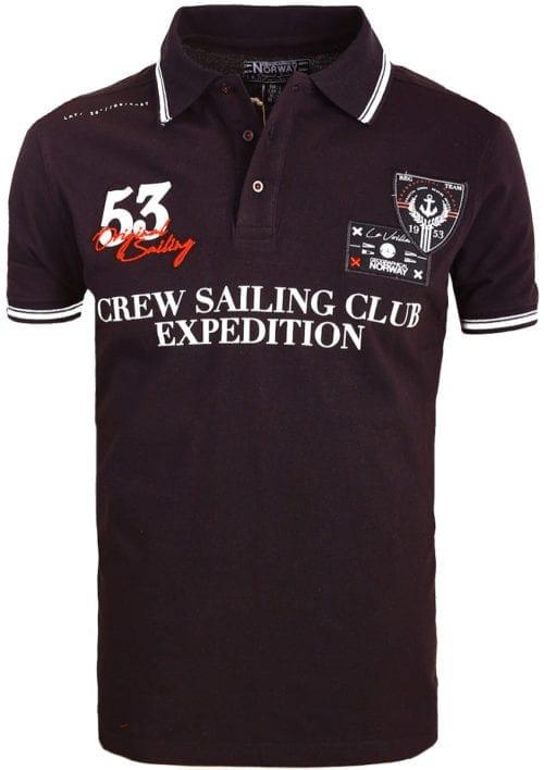 Geographical Norway Polo Shirt Zwart Sailing Club Shirts Kebastien (2)