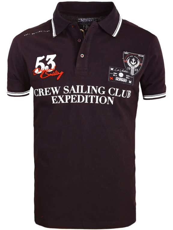 Geographical Norway Polo Shirt Zwart Sailing Club Shirts Kebastien (2)