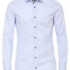 Venti overhemd blauw met motief in de kraag body fit en cute away boord 103522800-102 (2)