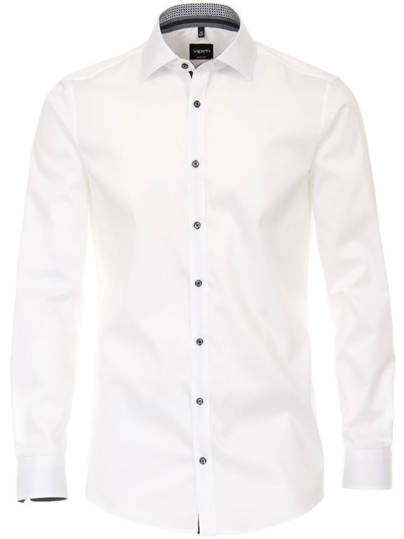 Venti overhemd wit body fit met cute away kraag premium katoen 103522600-001 (1)